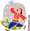 Vector Clip Art image  of a Ethnic Dance