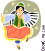 Ethnic Dance Vector Clip Art picture