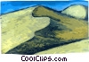 Vector Clipart picture  of a Sand dunes