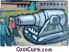 Vector Clipart picture  of a Cannons