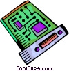 Vector Clipart graphic  of a Chips and Processors