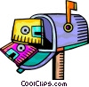 Vector Clipart illustration  of a Mailboxes