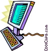 Vector Clipart picture  of a Monitors