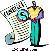 Vector Clipart picture  of a Business Contracts