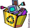 Obsolete computer Equipment Vector Clipart graphic
