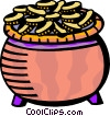 Vector Clip Art picture  of a Pot of Gold