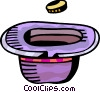 Coin and hat Vector Clip Art image