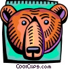 Investment and Stock Market Bear symbol Vector Clipart picture