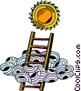 Vector Clipart image  of a Climbing Ladders