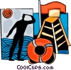 Vector Clip Art picture  of a Lifeguards