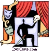 Actor performing Hamlet Vector Clip Art picture