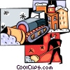 Vector Clip Art image  of a Snow removal equipment