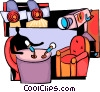 Talk show host ready to go on air Vector Clip Art image
