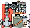 Vector Clip Art image  of a Refineries