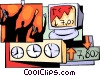 Vector Clipart graphic  of a Stock market traders