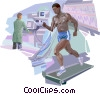 Vector Clip Art graphic  of a Medical Research