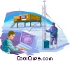 Scientists and Researchers in the Arctic Vector Clipart graphic