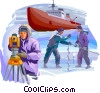 Scientists and Researchers in the Antarctic Vector Clipart picture