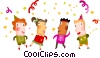 Party celebrants Vector Clipart picture