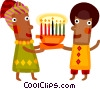 Vector Clipart illustration  of a Kwanzaa celebration