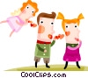 Vector Clip Art graphic  of a Couples and Romance