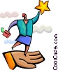 Vector Clipart image  of a Soaring to New Heights