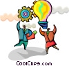 Idea Concepts Business people with ideas Vector Clipart picture