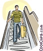 Vector Clipart picture  of a Passenger coming down an