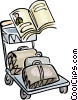 Luggage cart Vector Clip Art picture