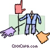 Businessman with Decision and Options Vector Clip Art graphic
