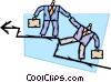Businessmen helping each other to success Vector Clip Art graphic