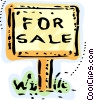 For sale sign Vector Clipart illustration