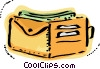 Wallet with cash Vector Clipart picture