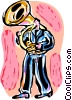 Tuba Player Vector Clipart image