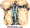 Circus announcer with whip and hat Vector Clip Art picture