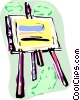 Easel with canvass Vector Clip Art image