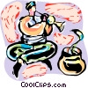 Snake Charmer Vector Clipart illustration