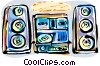 Mini stereo system Vector Clipart illustration