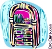 Jukebox Vector Clip Art graphic