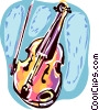 Vector Clip Art picture  of a Cellos