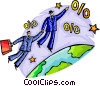 Vector Clip Art picture  of a Soaring to New Heights
