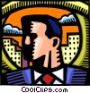 Accomplished Businessman Vector Clip Art picture