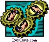 Businessmen gears Vector Clip Art picture
