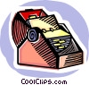 Card catalog Vector Clipart picture