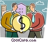 Businessmen sharing money Vector Clipart image