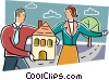 Vector Clipart illustration  of a Mortgage and Loans