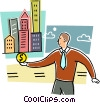 Vector Clip Art graphic  of a Financial Concepts