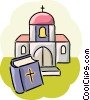 Church and bible Vector Clipart illustration