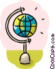 Spinning Globe Vector Clipart illustration