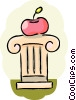 Educational Concepts Apple on pedestal Vector Clipart picture